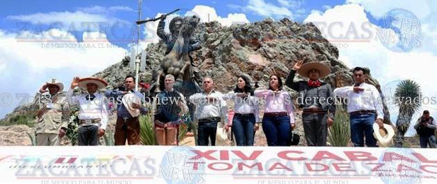 CELEBRAN XIV CABALGATA TOMA DE ZACATECAS