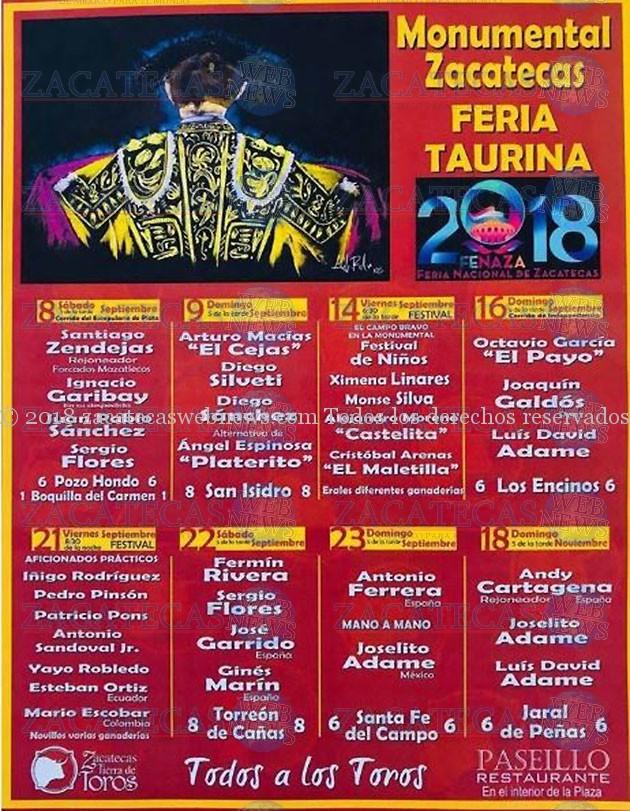 CARTEL FENAZA 2018