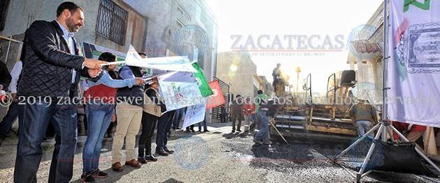 INICIA EL GOBERNADOR CON LA PAVIMENTACIÓN DE 100 CALLES EN ZACATECAS Y GUADALUPE