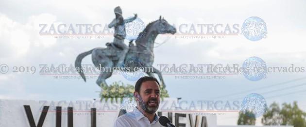 DEVELAN ESCULTURA DE ANTONIO AGUILAR BARRAZA EN VILLANUEVA