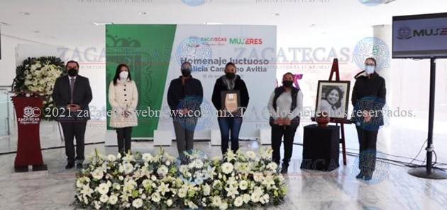 Honran la memoria de la activista Alicia Camacho Avitia